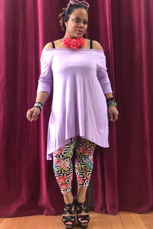 Curvy Lilac Tissue Tee Shirt Dress