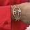 Thumbnail: Gold Visage Cuff Bracelet