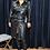 Thumbnail: Vegan Leather Shirt Dress BLK