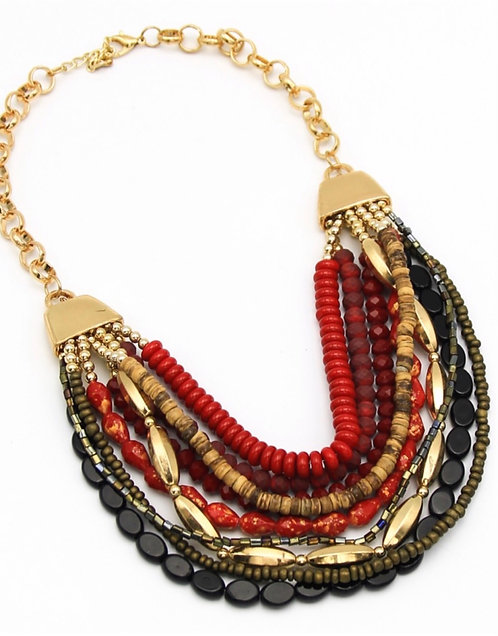 Multi Strand Layered Necklace
