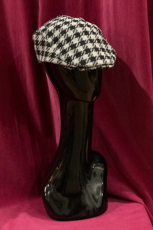 Houndstooth Grey Ivy Hat
