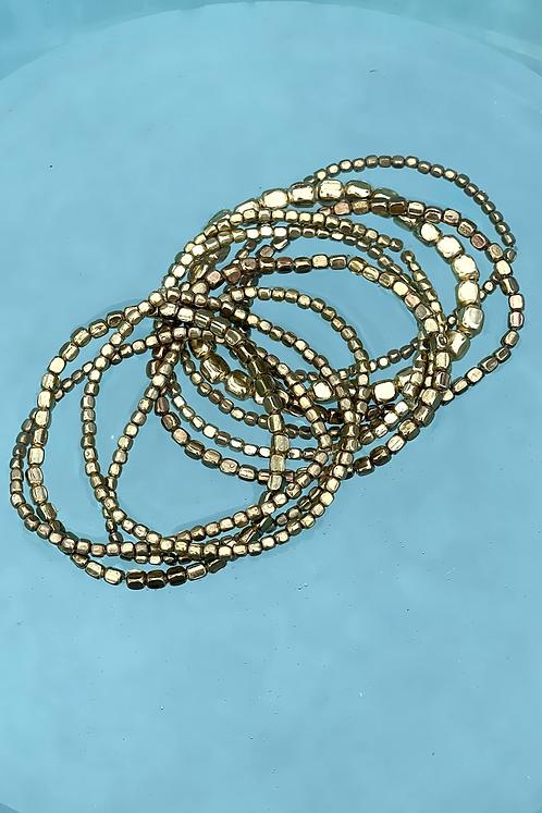 Gold Multi-strand Stretch Bracelets