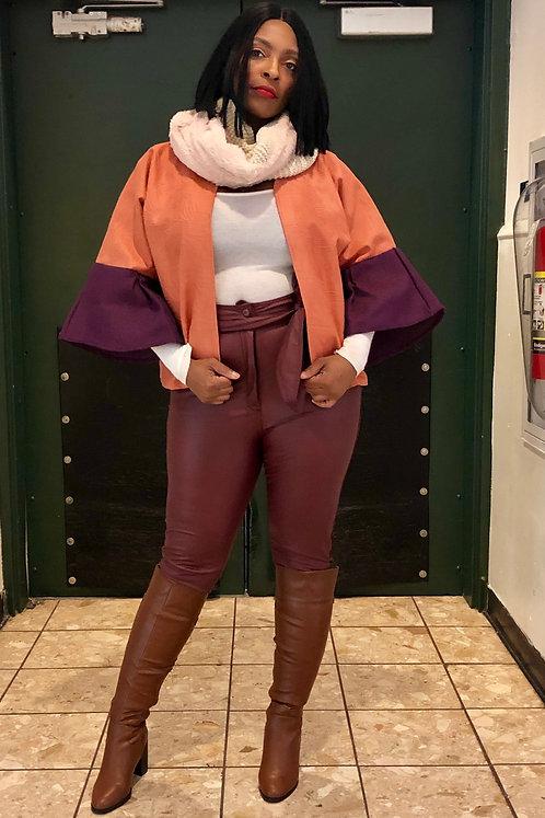 Faux Leather Pants Merlot