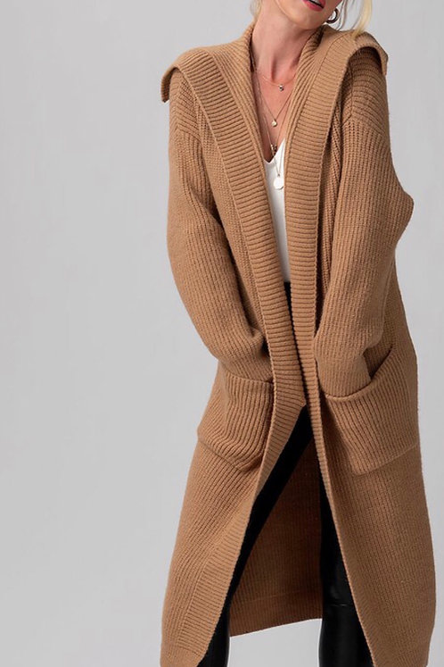 Ribbed Knit Cardigan CML