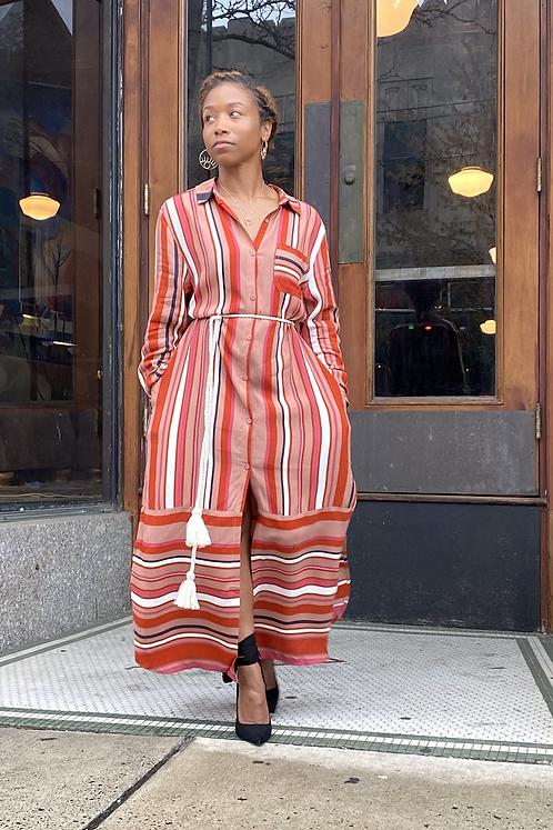 Stripe Boho Dress