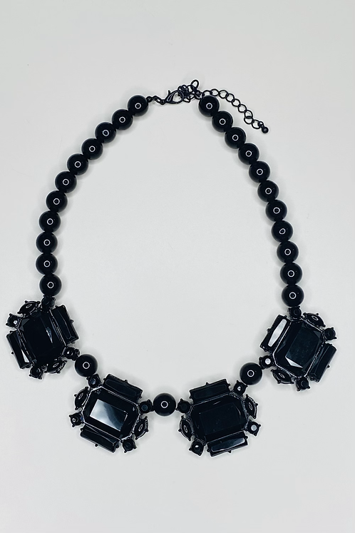 Victorian Inspired Black Necklace