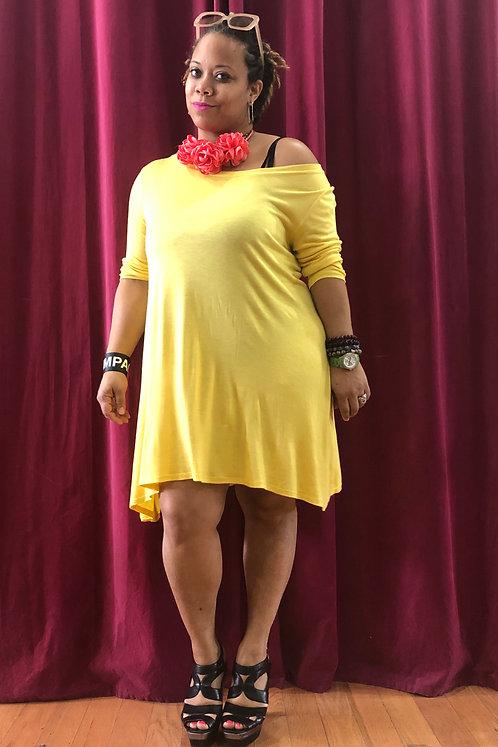 Curvy Aspen Tissue Tee Shirt Dress