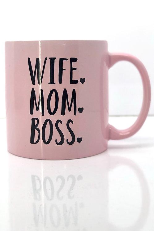 Wife. Mom. Boss. 22oz. Mug