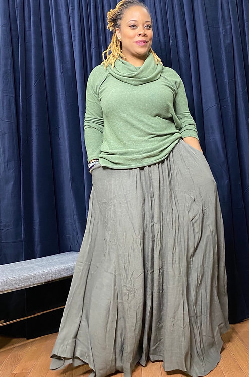 Super Flowy Maxi Skirt OLV