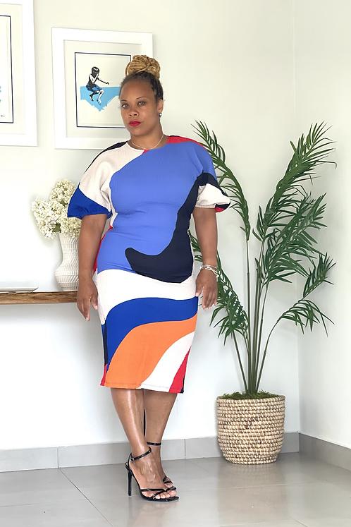 Xiomara Abstract Dress