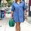 Thumbnail: Kira 3/4 Sleeve Denim Dress