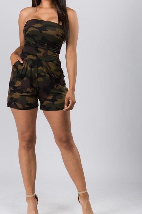 Camouflage Romper