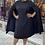 Thumbnail: Plus Pleated Swing Dress BLK