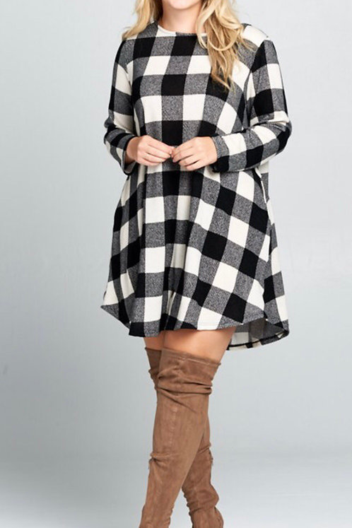 Plaid Tunic Dress BLKIVY