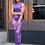 Thumbnail: Orchid Purple Mesh Maxi Dress
