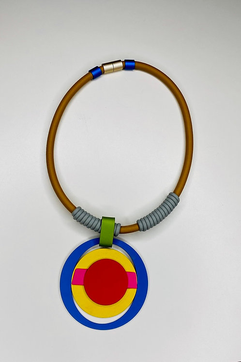 Art Deco Red/Blue necklace