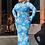 Thumbnail: Ocean Blue Mesh Maxi Dress