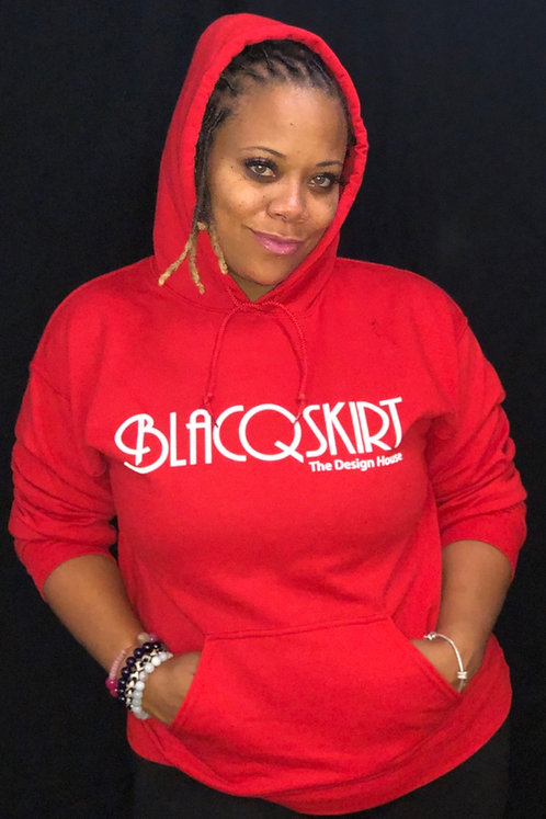 BLACQSKIRT Hoodie by Mike Hall RED