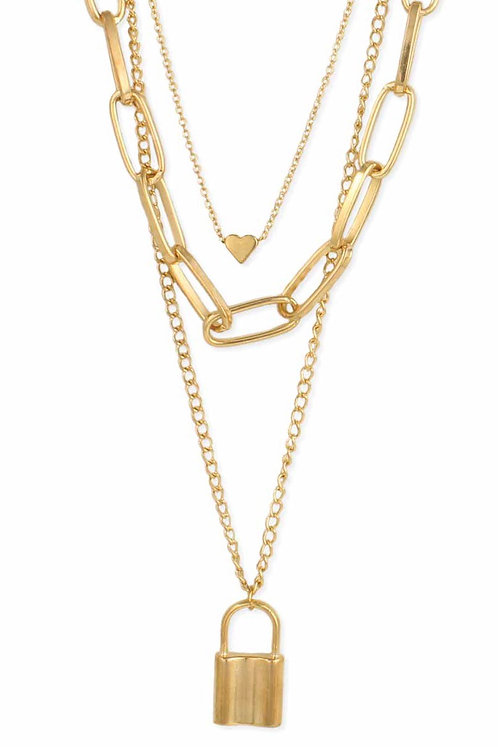 Love on Lockdown Layered Chain Necklace
