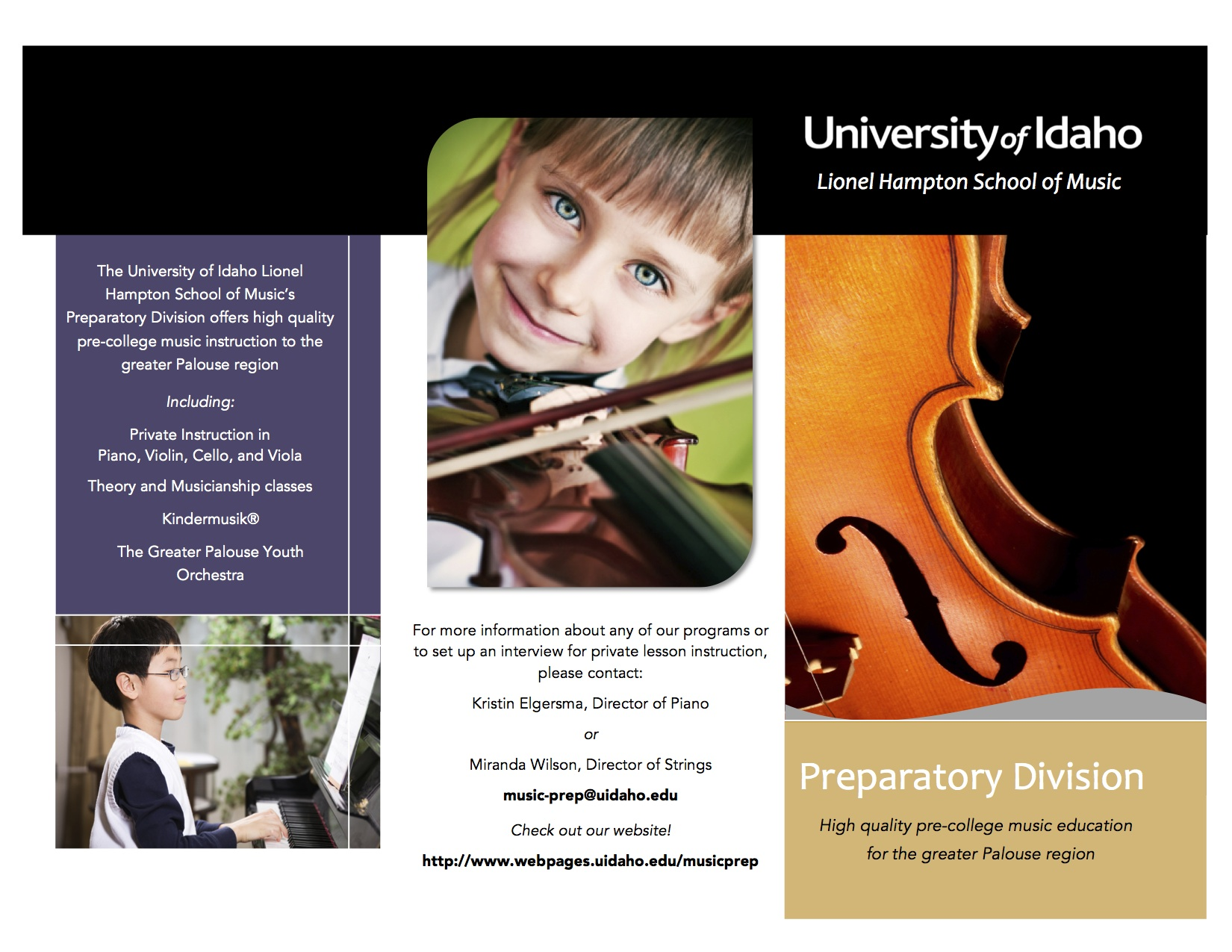 Pre-College music brochure