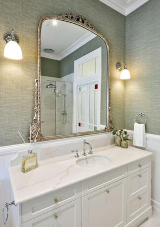 Main Bathroom - vanity and mirror