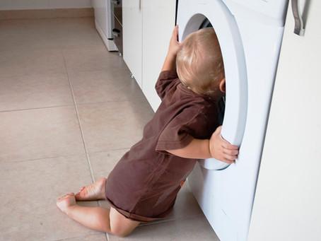 Prevención de accidentes infantiles - Lavarropa y secarropa.