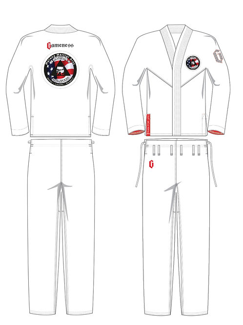 Gameness Feather Gi w/ Custom MMA Logo