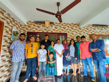 At Pramod Pillai's Home, Cherthala,