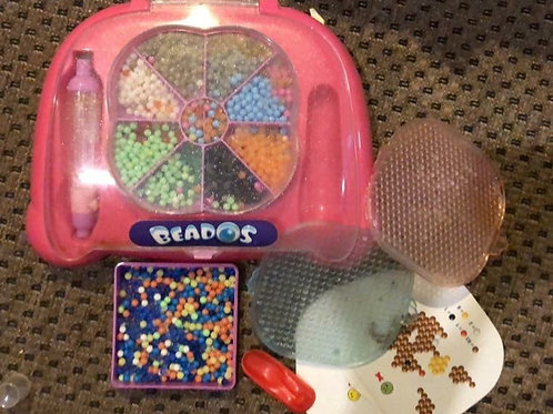 Beados Caddy with lots of beads and 2 mats