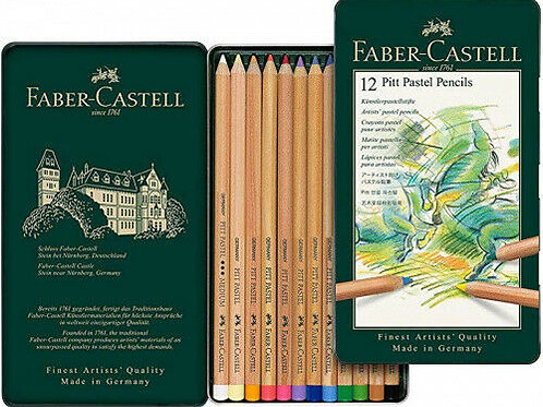 Faber-Castell Pitt Pastel Pencils 12 Tin Set