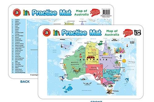 Practise Mat - Map of Australia