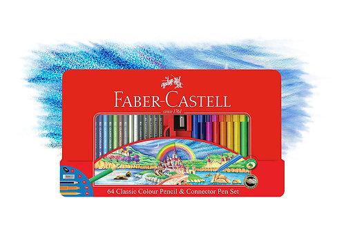 Faber-Castell 64 Classic Colour Pencils & Connector Pens