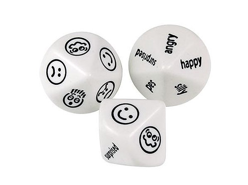 Dice Facial Expression and Words - 2 piece  $5.20