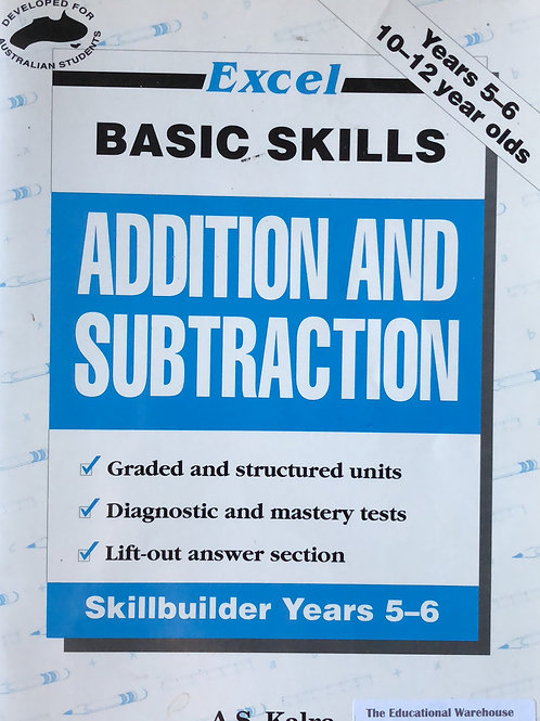 Excel Addition & Subtraction Year 5-6 Ages 10-12