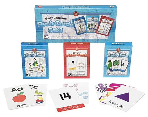 Early Learning Flashcards Set of 3