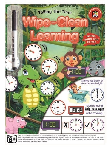 Wipe Clean Telling The Time Workbook
