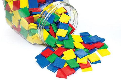 Colour Tiles Solid 2.5cm  50 per bag $5.95