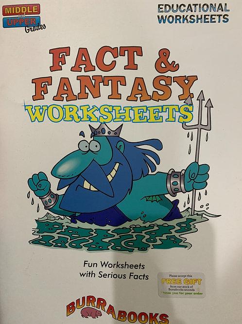 Facts & Fantasy Worksheets Middle & Upper (BurraBooks)
