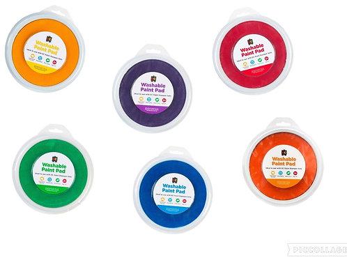 Paint Stamper Pads 15cm Diameter - 6 Colours