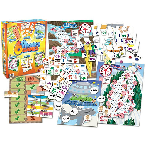 6 Phonic Games (Junior Learning) $29.95