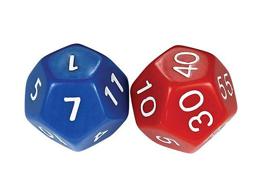 Dice Time Hours & Minutes Large 2 pieces $4.95