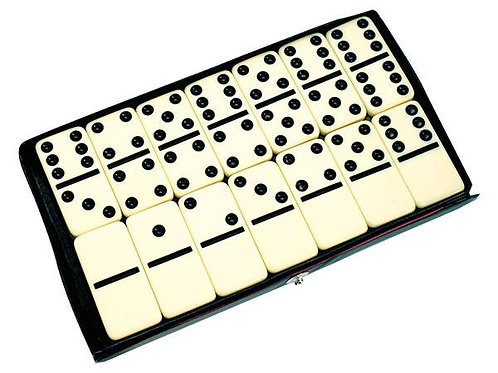 Dominoes 6 x 6 Black and White 28 piece $8.95