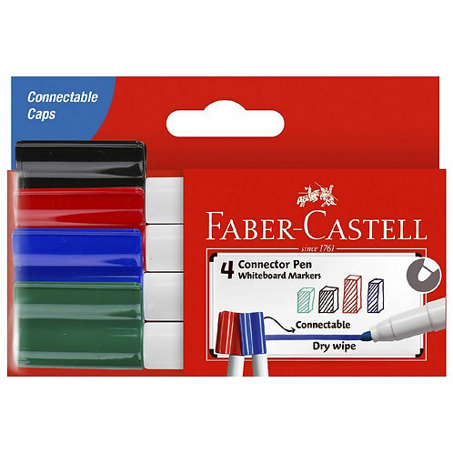 Faber-Castell Whiteboard Connector Pen 4pk