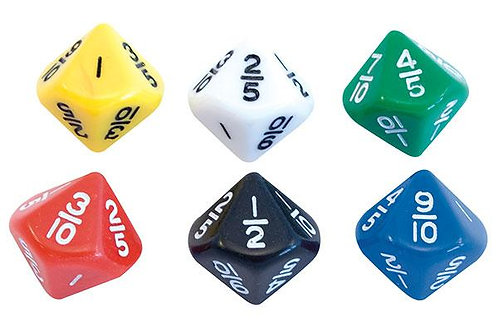 Dice Fractions  Equivalence 2 Pieces $3.00