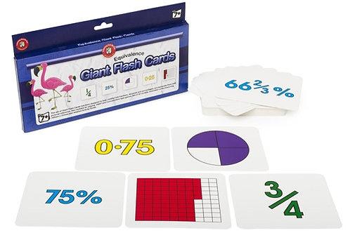 Giant Equivalence Flashcards