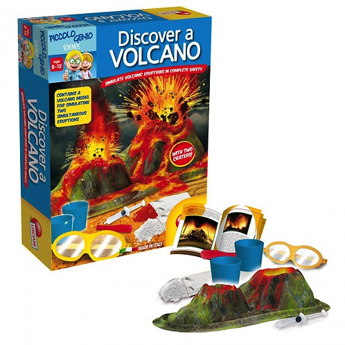 Discover a Volcano Science Kit (Piccolo Genio) Ages 8-12