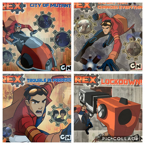 Cartoon Network Generator Rex Set of 4