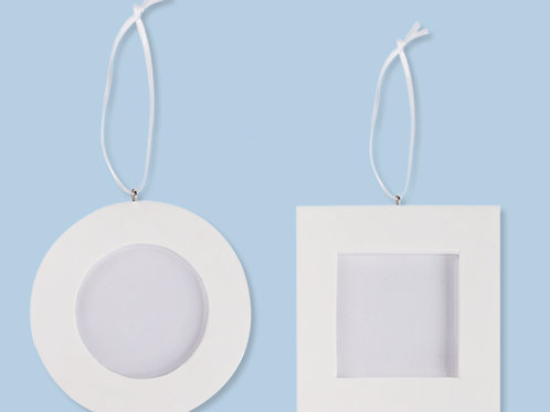 Clay Photo Frame Round & Rectangle pkt 2 $5.95