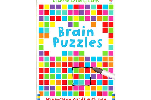 Usborne Brain Puzzle Games Activity Cards (Wipe Clean Cards with Pen)