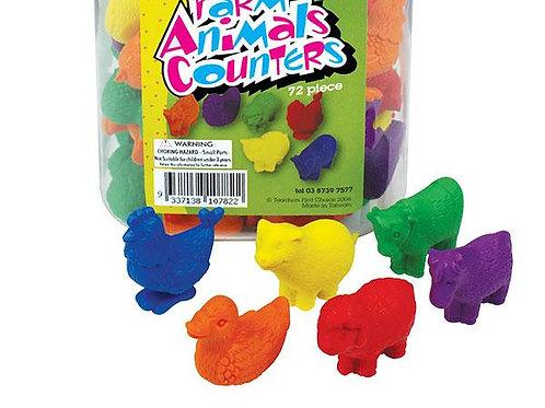 Counters Farm Animals 72p in PET Jar $29.95